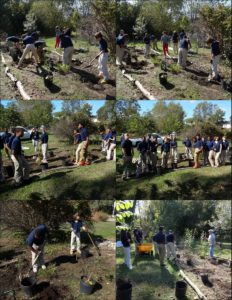 10-17-13 Adams Academy teachers & students assist the CEC in planting the Rock 'N Rain Garden 2
